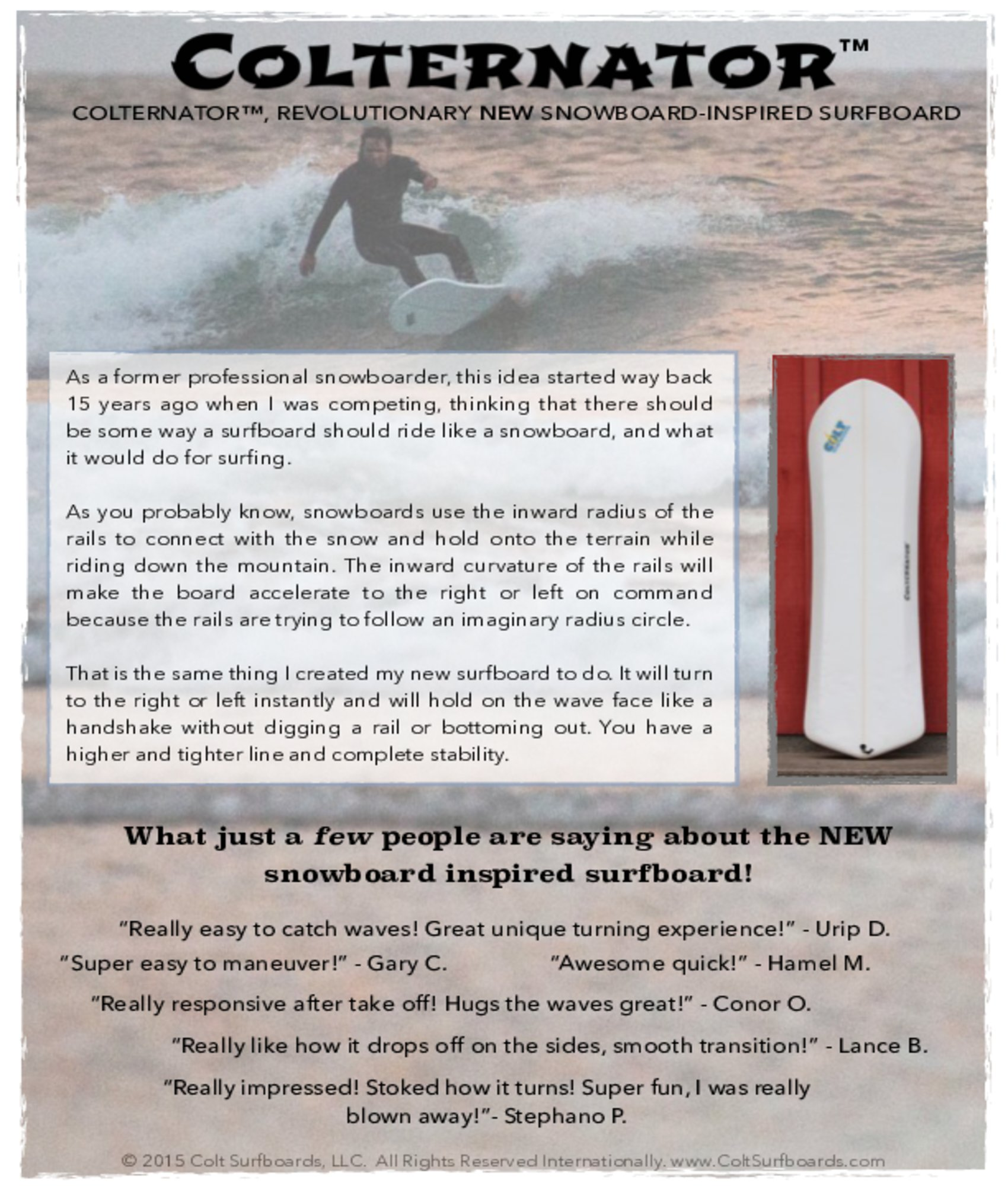 About_Colternator_Surfboards_surboards_tab_© 2015 Colt Surfboards LLC All rights reserved internationally