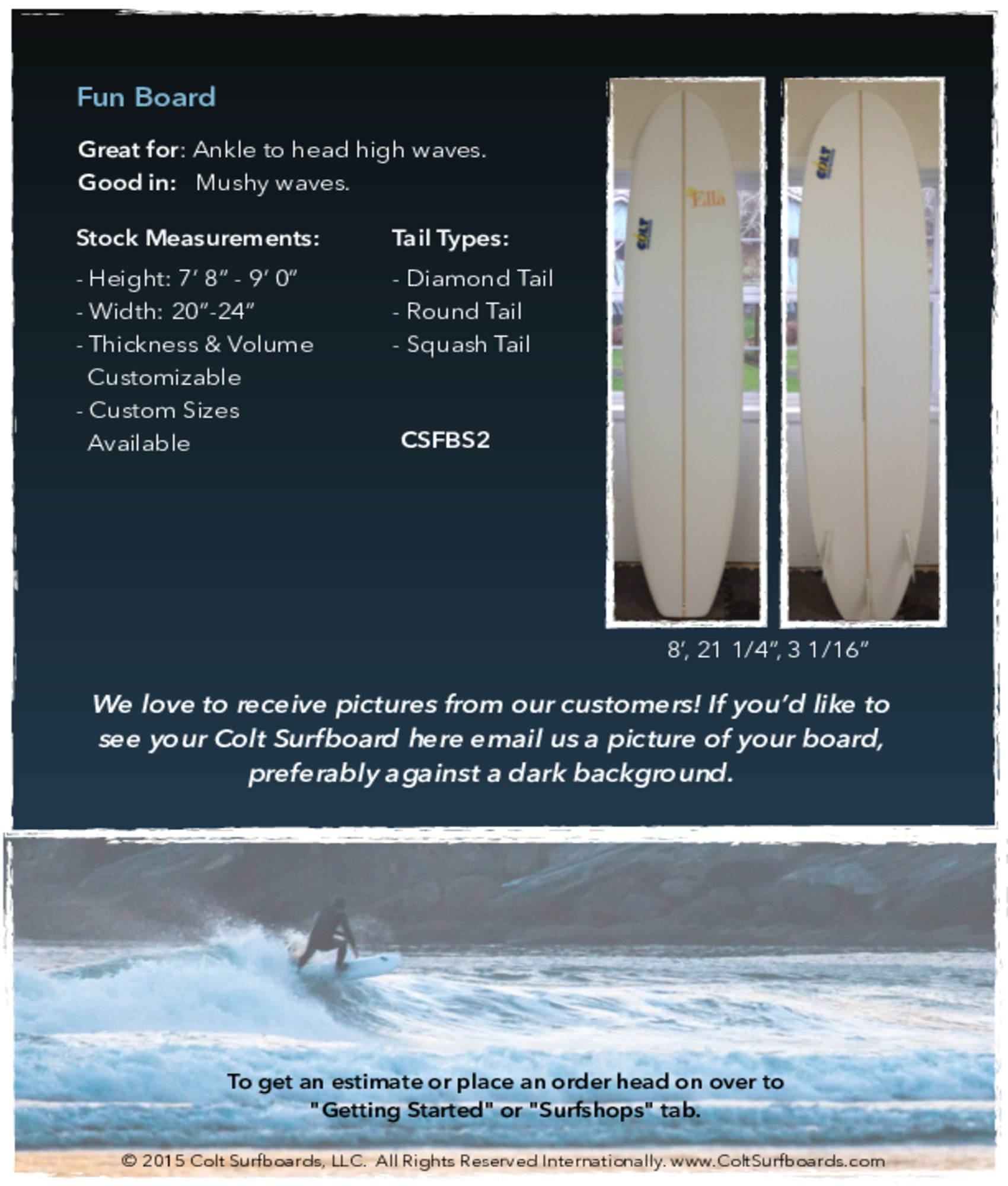 Fun_board_surboards_tab © 2015 Colt Surfboards LLC All rights reserved internationally 5